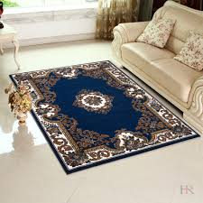 Hr Navy Blue Area Rug Traditional Contemporary Floral Design Navy Blue Brown And Ivory Walmart Com Walmart Com
