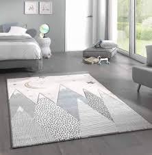 Carpetia Carpet Children Kids Room Carpet Baby Nursery With Mountains Blue Size 80x150 Cm