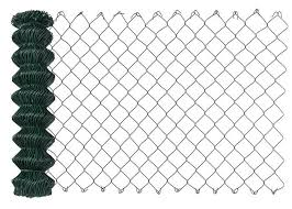Green Color Vinyl Coated Chain Link Fence For Garden All Opening Size