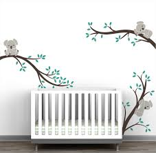 Koala Tree Branches Wall Decal Natural Collection Littlelion Studio