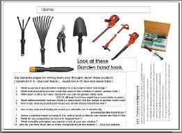 dunia belajar garden tools name list