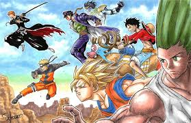 Anime Crossover DBZ HXH Naruto Shippuden One Piece Bleach JoJo's ...