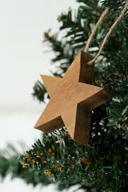 solid wooden stars tree decoration