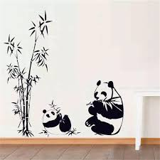 Chinese Bamboo Panda Wall Decal Sticker Wall Art Home Decor Living Room Kids Bedroom Cute Wall Stickers Gift Decorative Decal Decals Kawasaki Sticker For Mobile Phonestickers Angel Aliexpress