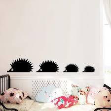 Wildlife Forest Animal Black Cartoon Hedgehog Vinyl Wall Sticker Cartoon Animal Silhouette Wall Decal Living Room Home Decor Wall Stickers Aliexpress