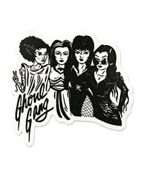 Ghoul Gang Sticker Retro Horror Halloween Wallpaper Iphone Bride Of Frankenstein