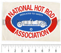Vtg Hot Rod Nos Sticker Decal 8 5 Nhra Charter Member Rare Drag Racing Vintage Hot Rod Hot Rods Nhra