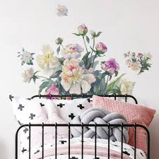 House Of Hampton Floral Bouquet Peel And Stick Giant Wall Decal Wayfair