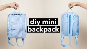 diy mini backpack from scratch
