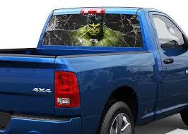Product Hulk And Broken Glass Rear Window Decal Sticker Pick Up Truck Suv 2