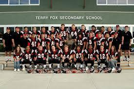 Football Photos - 2005 Senior Football Team - Terry Fox Secondary School
