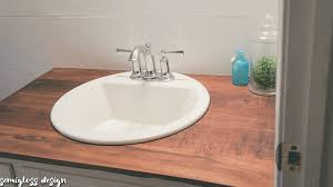 diy wood countertops for a bathroom