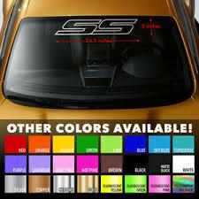 Ss Outline Windshield Banner Vinyl Decal Sticker For Chevy Camaro Impala Cobalt Ebay