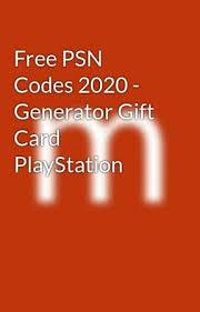 free psn codes 2020 generator gift