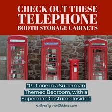 phone booth storage cabinet funky