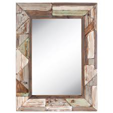 distressed wood wall mirror hobby