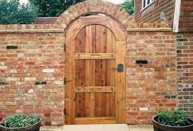 Gate 13th Cen Romania Dg345 Brick Wall Gardens Wooden Garden Gate Wood Gate