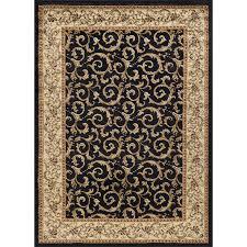 medium ivory gold and black area rug