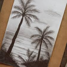تعليم الرسم كيف ترسم منظر طبيعي بسيط رسم رصاص منظر تعلم