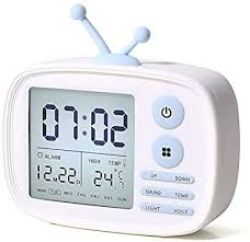 Amazon Com Alarm Clock For Kids Digital Clocks For Bedrooms Cute Alarmclock For Living Room Wake Up Light 5 Loud Alarms Temperature Display Usb Charger Birthday Children S Day Gifts For Teens Girls Boys