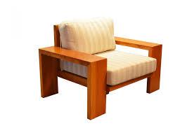 Em madeira maciça Assento e encosto em linho cru almofada nao ...