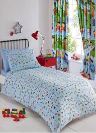 kids bedroom bedding reversible blue