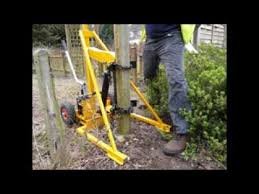 How To Remove Old Fence Posts Using A Post Puller Youtube