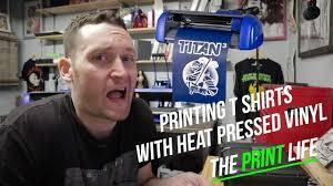 Making T Shirt Live With A Vinyl Cutter A Heat Press And Heat Transfer Vinyl Titan 3 Youtube