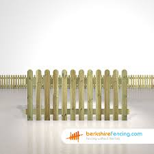 Rounded Picket Fence Panels 3ft X 6ft Natural Berkshire Fencing