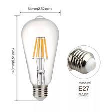 Bóng đèn led dây tóc Edison ST64 E27