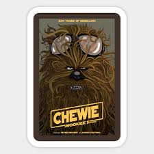 Let The Wookie Win Chewbacca Sticker Teepublic