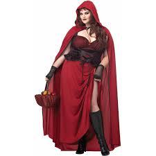 dark red riding hood plus size women s
