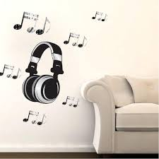 Headphone Music Wall Decal Sticker For Dorm Room Musical Notes Wall Mu American Wall Designs