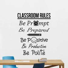 Creative Classroom Rules Wall Decal Stickers Education Quote Vinyl Sticker Poster Art Wall Decor Murals School Decals G776 Wall Stickers Aliexpress