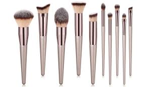 makeup brush set 10 piece groupon goods
