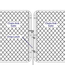 Black Chain Link Fence Drop Latch At Menards