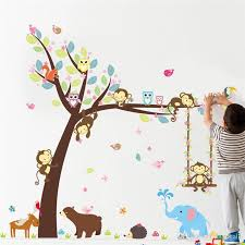 2018 Tree Wall Stickers For Kids Room Jungle Children Wall Decal Nursery Bedroom Decor Poster Mural Removable Wall Decals For Bedroom Removable Wall Decals For Kids From Bigdeal1 3 33 Dhgate Com