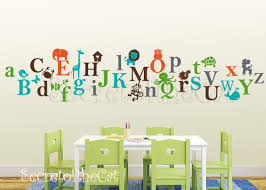 Kids Alphabet Vinyl Decal Abc Decal A To Z Letters Nursery Decal Wall Sticker Children Decal Alphabet Wall Decals Nursery Decals Alphabet For Kids