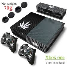 Fashion Leaf Designers Vinyl Decal Protector Skin Cover For Xbox One Console Sticker 2pcs Controller Skin Black White Wish