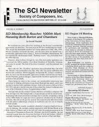 The SCI Newsletter