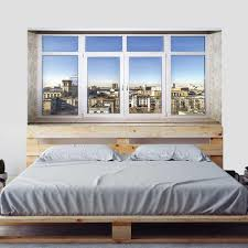 Creative Bed Head Decoration 3d Wall Stickers Fake Window Small Town Scene For Bedroom Decor Large Size Diy Mural Art Pictures Wall Stickers Aliexpress