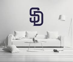 San Diego Padres Logo Wall Decal Egraphicstore