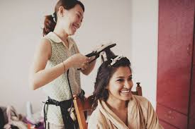 wedding day makeup and hair