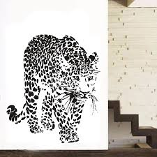 Poomoo Decals New Design Vinyl Wall Stickers Leopard Panther Home Decoration Animal Wall Decals For Living Rooms Home Decoration Wall Decals Vinyl Wall Stickersdesigner Wall Stickers Aliexpress