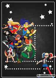 Free Printable Dc Superhero Girls Invitation Template