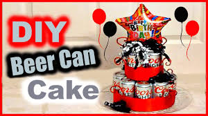 diy beer can cake gift idea for
