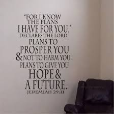 Amazon Com Battoo Jeremiah 29 11 Wall Decal Quote For I Know The Plans I Have For You Wall Art Sticker Vinyl Lettering Bible Verse Black 15 5 Wx22 H Home Kitchen