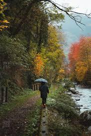 lonely with umbrella stock photos