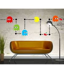 Pacman Retro Game Decal Pacman Wall Stickers Pacman Wall Graphics