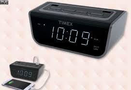 t260 bedside led alarm clock with dual